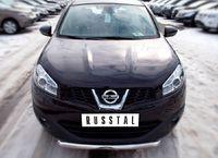 Защита переднего бампера d63 (дуга) для Nissan Qashqai +2 (2010 -) QNZ-001769