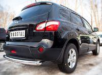 Защита заднего бампера d76 (дуга) для Nissan Qashqai +2 (2010 -) QNZ-001779