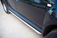 Пороги труба d63 (вариант 1) для Renault Duster 4x4 (2012 -) RD2T-0004381-4x4
