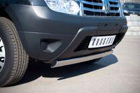 Защита переднего бампера d75х42 овал для Renault Duster (2012 -) RD2Z-000437