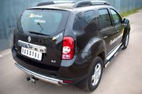 Защита заднего бампера d75х42 овал для Renault Duster 4x4 (2012 -) RD4Z-000445-4x4