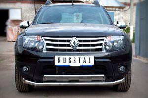 Защита переднего бампера d63L длинная для Renault Duster 4x4 (2012 -) RD4Z-000447-4x4