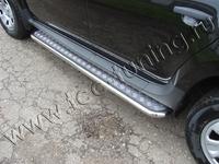 Пороги с площадкой 42,4 мм для Renault Duster (2012 -) RENDUST12-04