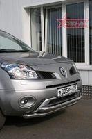 Защита переднего бампера d60/60 двойная для Renault Koleos (2008 -) RENK.48.0727