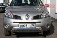 Решетка передняя мини d60 низкая с накладной надписью для Renault Koleos (2008 -) RENK.56.0725