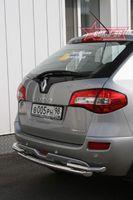 Защита заднего бампера d60/42 двойная для Renault Koleos (2008 -) RENK.75.0733