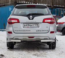 Защита задняя уголки d76 для Renault Koleos (2012 -) RENK.76.1597