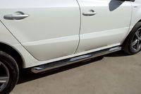 Пороги труба d76 с накладками (вариант 1) для Renault Koleos (2012 -) RKT-0005861
