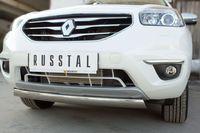 Защита переднего бампера d75х42 овал для Renault Koleos (2012 -) RKZ-000582