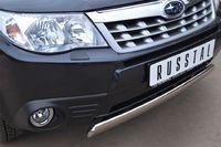 Защита переднего бампера d75x42 овал  для Subaru Forester (2008 -) SFRZ-001002