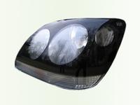 Защита передних фар для Hyundai Accent (1999 -) SIM Dark Eyes SHYACC0024