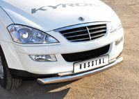 Защита переднего бампера d63/42 (дуга) для Ssang Yong Kyron (2007 -) SKZ-000310