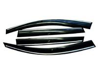 Дефлекторы окон для Mazda 6 Седан (2007 - 2012) SIM Dark Chrome SMAMA60832-Cr