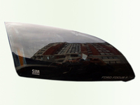 Защита передних фар для Mitsubishi Lancer 10 (2007 -) SIM Dark SMILAN0722