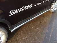 Пороги труба 60,3 мм для SsangYong Actyon (2011 -) SSANACT11-03