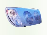 Защита передних фар для Toyota Corolla Spacio (1997 - 2001) SIM Silver STOSPA9625