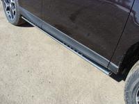 Пороги овальные с проступью 75х42 мм для Subaru Forester (2013 -) SUBFOR13-07