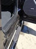 Пороги овальные с накладкой 75х42 мм для Subaru Forester (2013 -) SUBFOR13-08