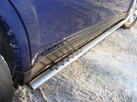 Пороги овальные с проступью 75х42 мм для Subaru Outback (2010 -) SUBOUT10-03