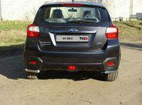 Защита задняя (уголки длинные) 42,4 мм для Subaru XV (2012 -) SUBXV12-03