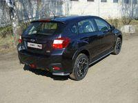 Защита задняя (уголки короткие) 42,4 мм для Subaru XV (2012 -) SUBXV12-06