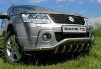 Защита передняя низкая d60/42 для Suzuki Grand Vitara 5D (2008 -) SUZGV5D-01