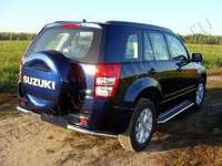 Защита задняя (уголки) 60,3 мм для Suzuki Grand Vitara 5D (2012 -) SUZGV5D12-07