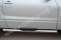 Пороги труба d76 с накладками (вариант 1) для Suzuki Grand Vitara 3D (2012  -) SV3T-001108/1