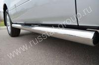 Пороги труба d76 с накладками (вариант 3) для Suzuki Grand Vitara 3D (2012  -) SV3T-001108/3
