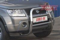 Решетка передняя мини d60 высокая для Suzuki Grand Vitara 5D (2008 -) SZGV.55.0269-5D