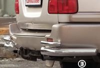 """Защита задняя """"уголки"""" d76 одинарные для Toyota LC 100 (1999 -) TC10.76.0026"""