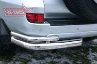"""Защита задняя """"левый уголок"""" d76 для Toyota LC 120 Prado (2003 -) TC12.76.0042Left"""