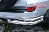 """Защита задняя """"правый уголок"""" d76 для Toyota LC 120 Prado (2003 -) TC12.76.0042Right"""