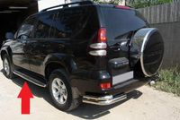 Защита штатного порога d42 для Toyota LC 120 Prado (2003 -) TC12.86.0034
