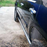 Пороги труба d76 (вариант 2) для Chevrolet Tahoe (2008 -) TCT-000623/2