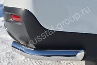 Защита заднего бампера уголки d63 для Toyota Highlander (2010 -) THZ-001257