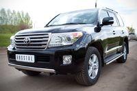 Защита переднего бампера 75х42 (овал) для  Toyota Land Cruiser 200 (2012 -) TLCZ-000512