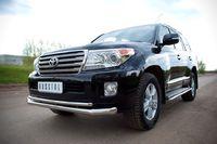 Защита переднего бампера 76/42 (секции-дуга) для  Toyota Land Cruiser 200 (2012 -) TLCZ-000513