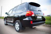 Защита заднего бампера 75х42 овал для  Toyota Land Cruiser 200 (2012 -) TLCZ-000516