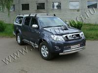 Защита передняя нижняя 75/75 мм для Toyota Hilux (2008 -) TOYHILUX10-01