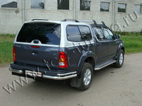 Защита задняя (уголки) 76,1/42,4 мм для Toyota Hilux (2008 -) TOYHILUX10-03