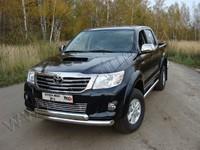 Защита передняя нижняя 76,1/75 мм для Toyota Hilux (2011 -) TOYHILUX12-01