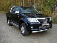 Защита передняя (овальная) 75х42 мм для Toyota Hilux (2011 -) TOYHILUX12-07