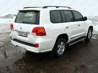 Защита задняя (уголки овальные) 75х42 мм для Toyota Land Cruiser 200 (2007 -) TOYLC200-07