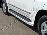 Защита порогов 42,4 мм (аналог Lexus LX570) для Toyota Land Cruiser 200 (2012 -) TOYLC20012-11