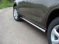 Пороги труба 60,3 мм для Toyota RAV4 (2010 -) TOYRAV10-04