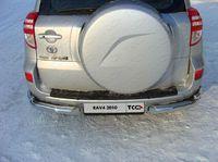 Защита задняя (уголки) 76,1/42,4 мм для Toyota RAV4 (2010 -) TOYRAV10-07