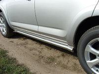 Пороги труба 60,3 мм для Toyota RAV4 Long (2010 -) TOYRAVLONG10-03