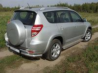 Защита задняя (уголки) 76,1 мм для Toyota RAV4 Long (2010 -) TOYRAVLONG10-04
