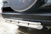 Защита заднего бампера d76/d42 для Toyota LC Prado 120 (2003 -) TPZ-000156